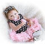 ZIYIUI Simulación DE 18 Pulgadas 45 cm de Cuerpo Completo de Silicona Muñecos bebé Reborn Baby Doll Princess Girl Bath Gift Playmate
