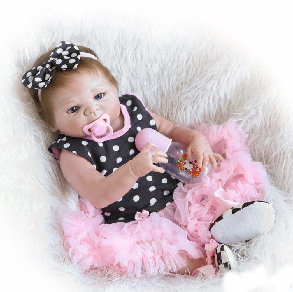 ZIYIUI Reborn Baby Dolls 18Zoll 45cm Lebensecht Reborn Baby Puppen schlafendes neugeborenes weiches Silikon Vinyl realistisches Kind handgemachtes Mädchen