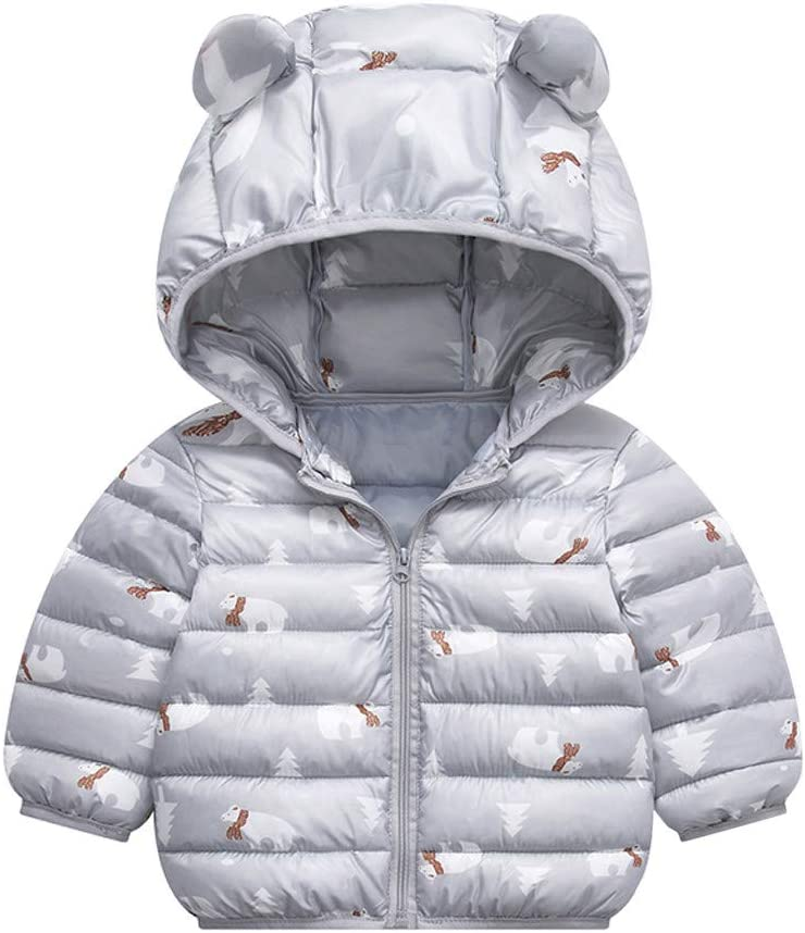 AKIWOS Winter Coats for Kids with Hoods Baby Boys Girls Puffer Jacket Casual Daily Toddlers Infants Winter Warm Outerwear 6M-5T