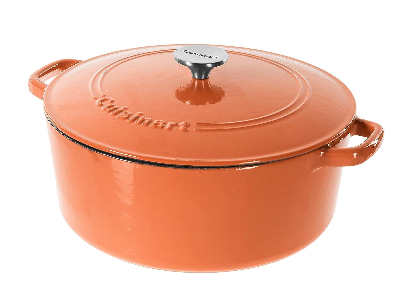 Cuisinart Cast Iron Casserole, Terracotta Orange, 7-Quart
