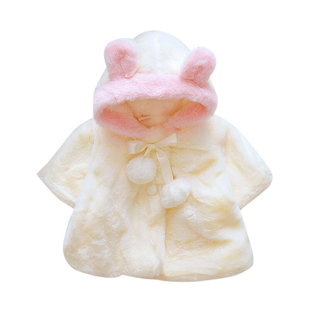 e46d071b5 Muxika Dinlong Fashion Baby Girl Fur Winter Warm Coat Cloak Jacket Thick  Warm Clothes Din  95