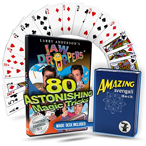 JAW DROPPERS 80 Magic Tricks Kit: Complete Magic Course