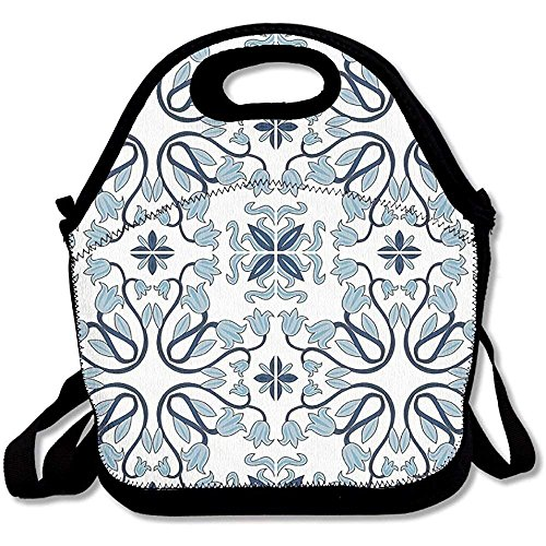 Medieval Persian Palace Flower Leaf Shapes Arabian Lunch Bag Tote For School Work Outdoor by matthewwei