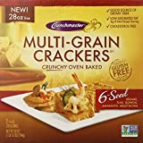 Crunchmaster Oven Baked Crunchy Multi-Grain Crackers, 28 Ounce (Pack of 6)