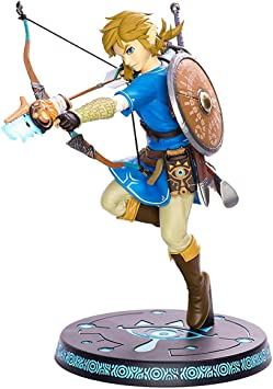 Todo para el streamer: ZELDA Legend Breath of The Wild Link with Bow PVC Painted Statue, Multicolor (First 4 Figures 607353b)