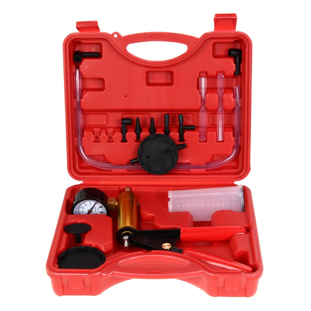 Amazingdeal365 HandHeld Brake & Clutch Bleeder Tester Set Bleed Kit Vacuum Pump Car Motorbike Moped Motor Bike Bleeding