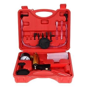 Kit de comprobador de purgador de freno y embrague Amazingdeal365, de mano, bomba de vacío para coche, moto, motocicleta: Amazon.es: Coche y moto