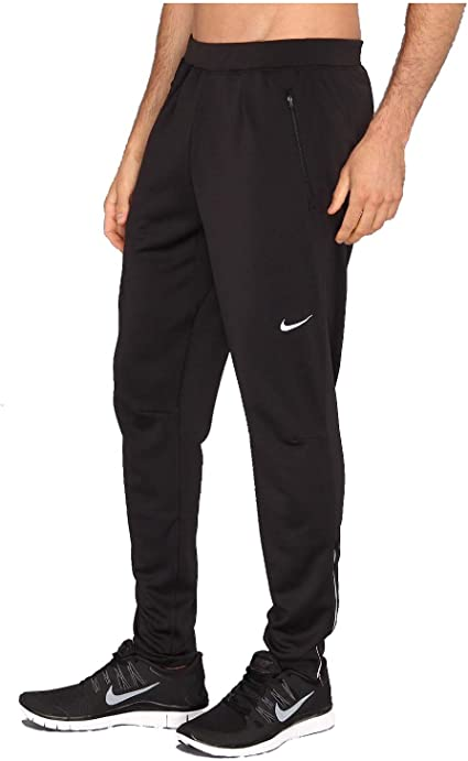 Amazon.com : Nike Mens Dri-Fit Running Track Pants-Black ...