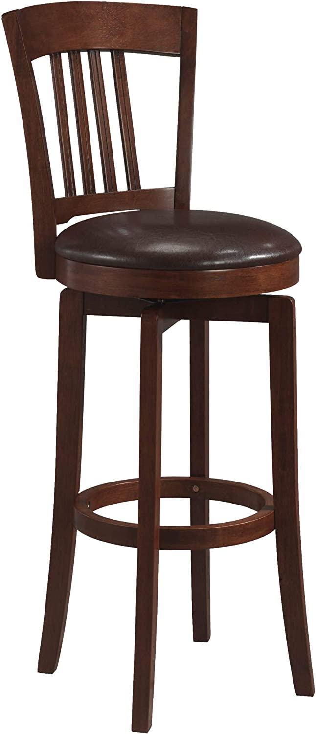 Hillsdale Furniture Canton Swivel Counter Stool with Vinyl Seat 24.5 in.