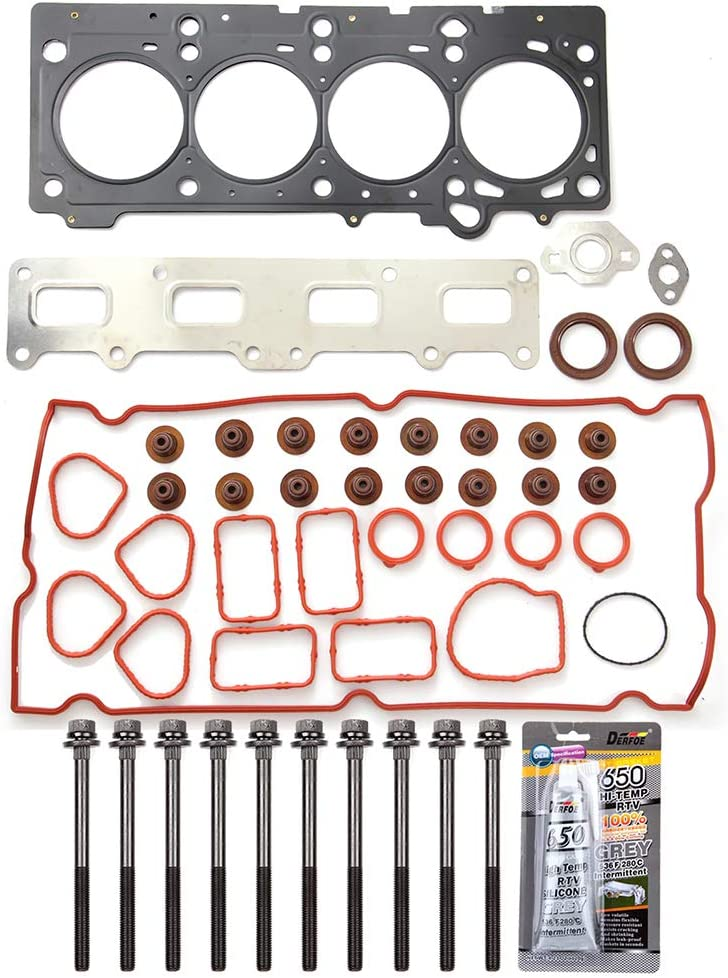 ECCPP Engine Head Gasket Set with Bolts fit 2002-2010 Jeep Liberty TJ Chrysler PT Cruiser Compatible fit for Head Gaskets Kit