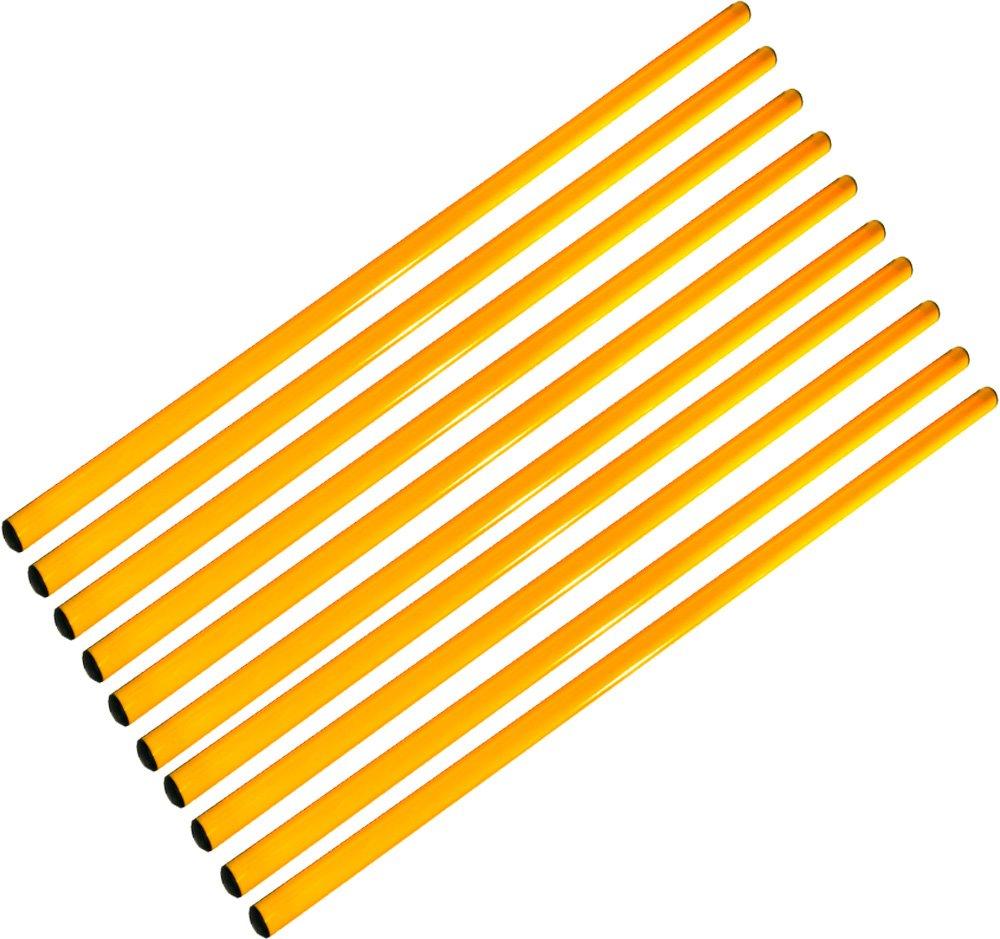 Set di 10 aste 160 cm, giallo