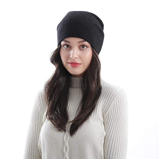 922529e283d Dreamdeer Womens Knit Hat Winter Cap Slouchy Hat Thick Baggy Beanie Soft  Warm Skullies Ski Cap