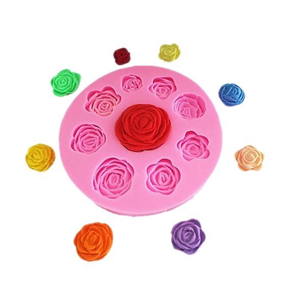 3D Forma de Flor Molde de Pastel de Chocolate Fondant para Hornear moldes de Silicona Herramienta de moldes (Flower): Amazon.es: Ropa y accesorios