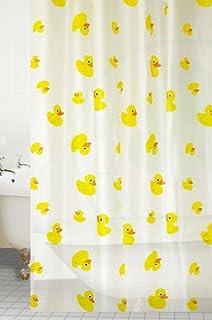 Designer PEVA Bathroom Shower Curtain Waterproof W 12 Hooks Duck Pattern 180