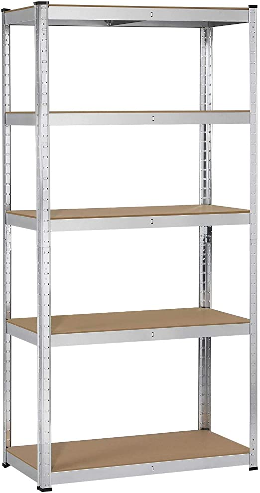 5 Tier Boltless Industrial Racking Garage Shelving Storage Heavy Duty Shelf Bay