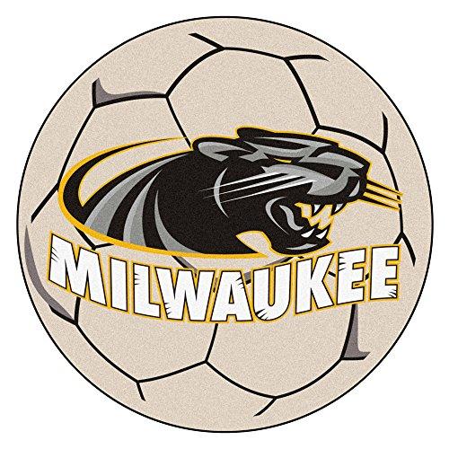 Fanmats NCAA University of Wisconsin-Milwaukee - Balón de fútbol, tamaño pequeño, Color Negro