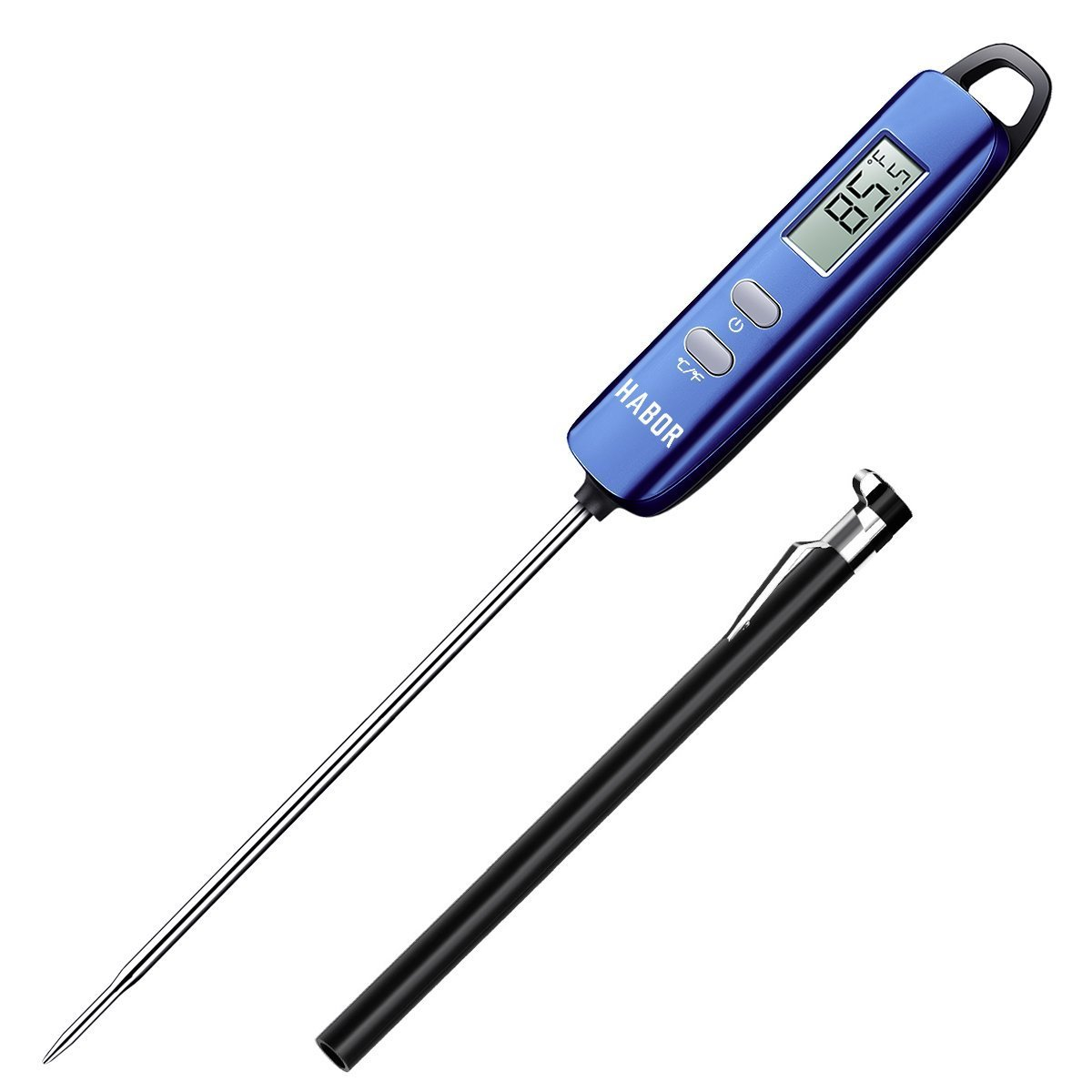 Meat Thermometer, Habor Instant Read Thermometer Cooking Thermometer Candy Thermometer with Long Probe for Kitchen Cooking BBQ Grill Smoker Meat Fry Food Milk Yogurt