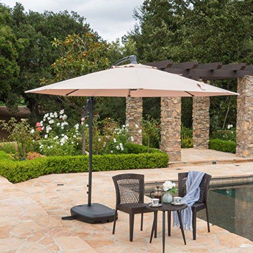 Sahara Outdoor Water Resistant Canopy w/Plastic Base Aluminum Pole ()