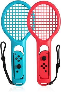 Goolsky Raqueta de Tenis Twin Pack para N-Switch Joy-con Controladores para Mario Tennis Games: Amazon.es: Juguetes y juegos