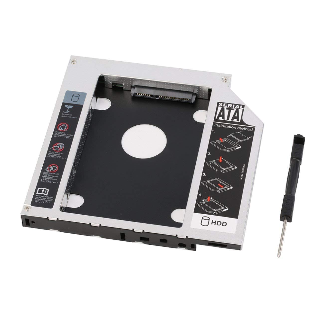 Universal 12.7mm SATA 2nd SSD Unidad de Disco Duro HDD o DVD-ROM ...