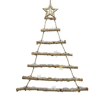 Weihnachtsdeko Baum.Zeitzone Led Weihnachtsbaum Birke Mit Schnee Baum Weihnachtsdeko