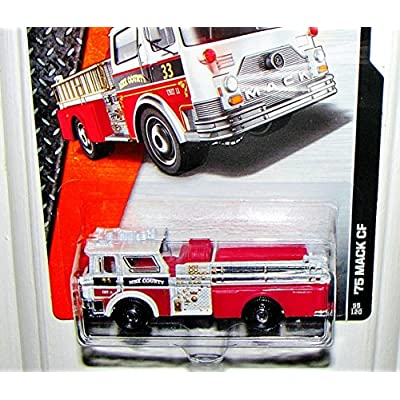 Matchbox 2015 MBX Heroic Rescue '75 Mack CF Fire Engine 55/120, Red and White: Toys & Games