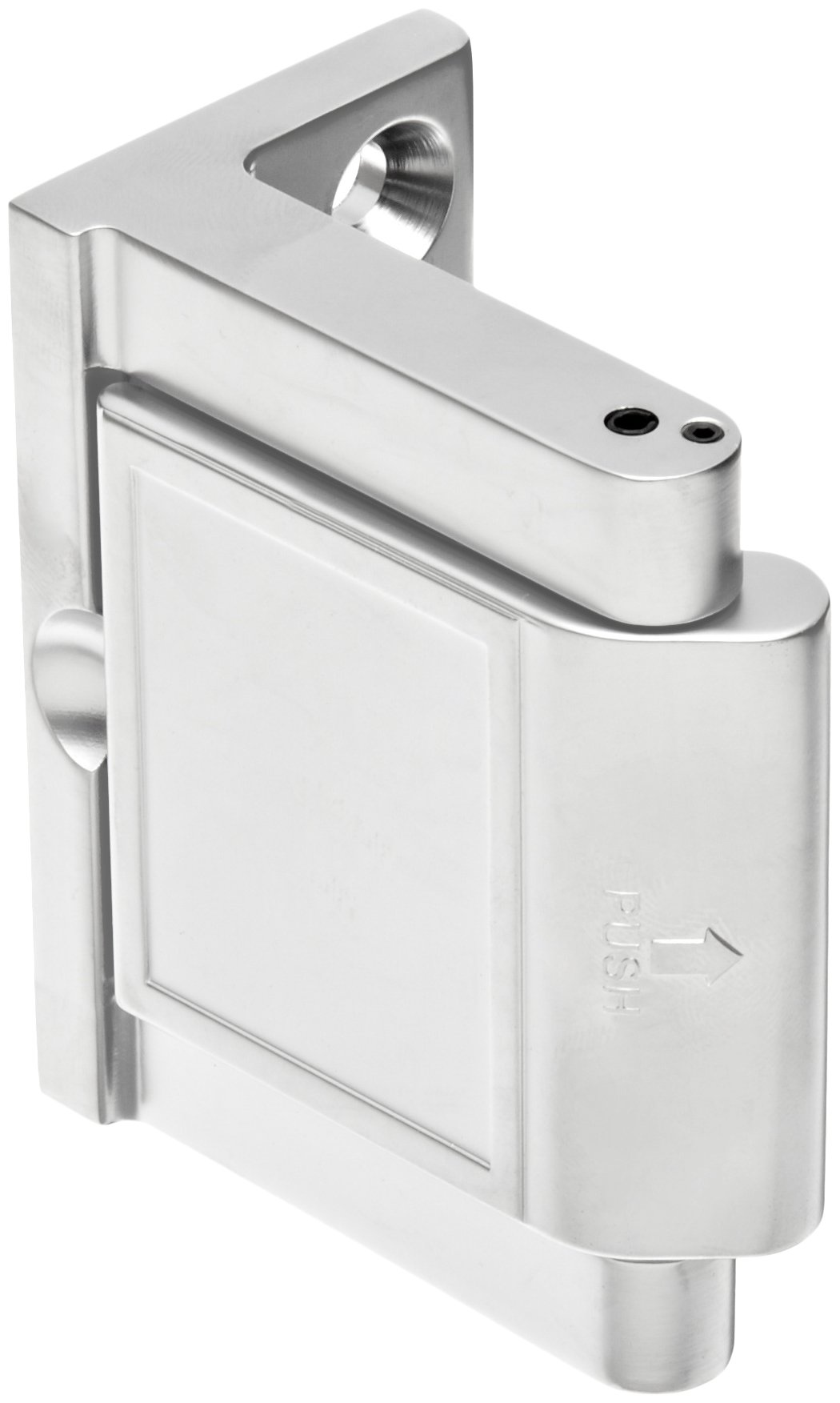 Pemko Privacy Door Latch, Polished Chrome finish, 1-1/2'' x 2-3/4'' Width, 2-3/16'' Height