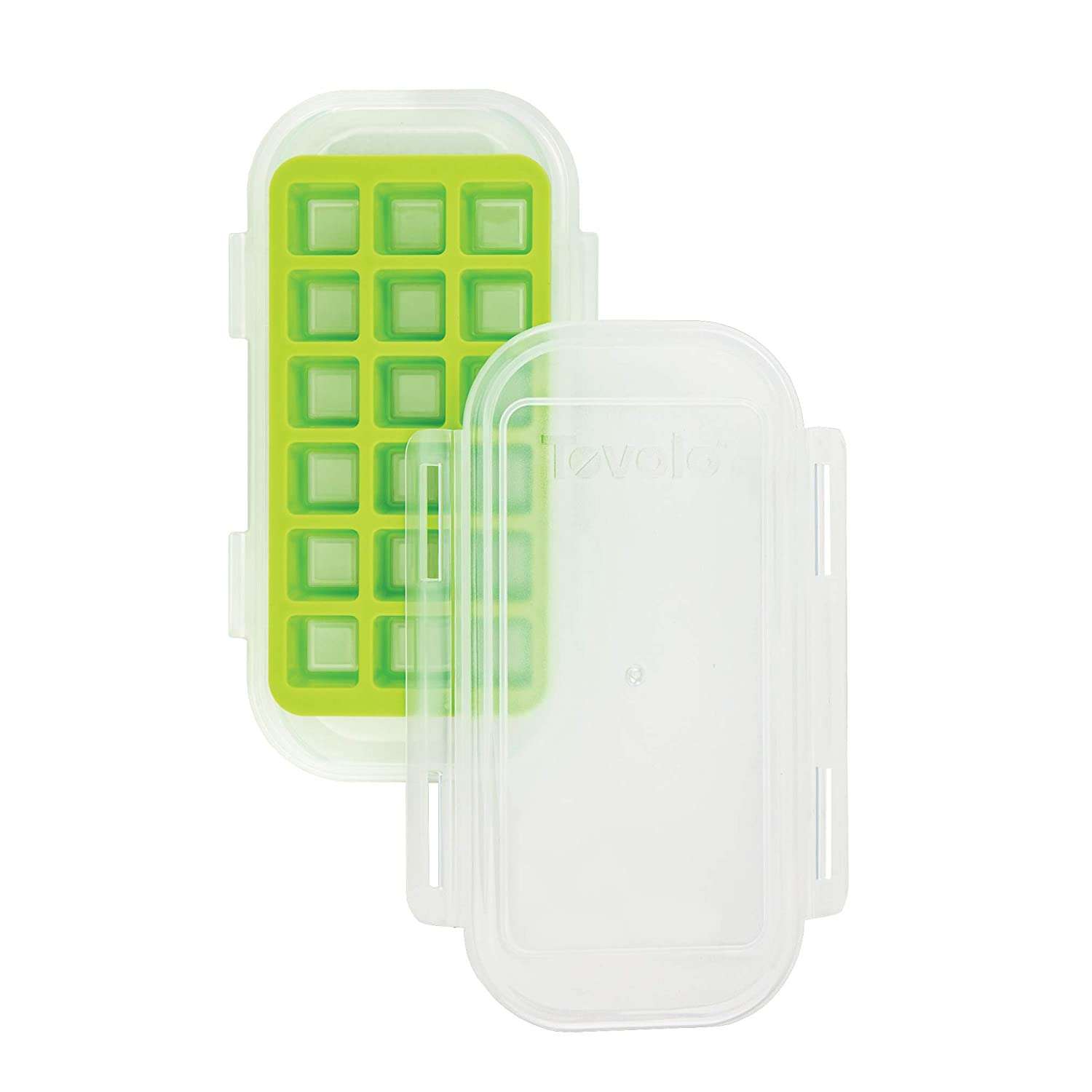 Tovolo 81-32705 Clove Storing Chopped, Minced and Crushed Garlic Freezer Tray, One, Spring Green