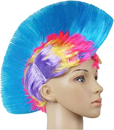 Novelty Tie Die Mohawk Costume Accessory One Size Fits Most Purple