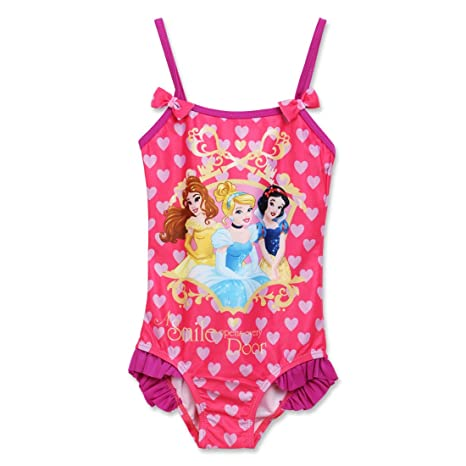 35c38052a76e6 Disney Princess Girls Swimwear|Swimsuit (7-8 Years) Pink: Amazon.in ...