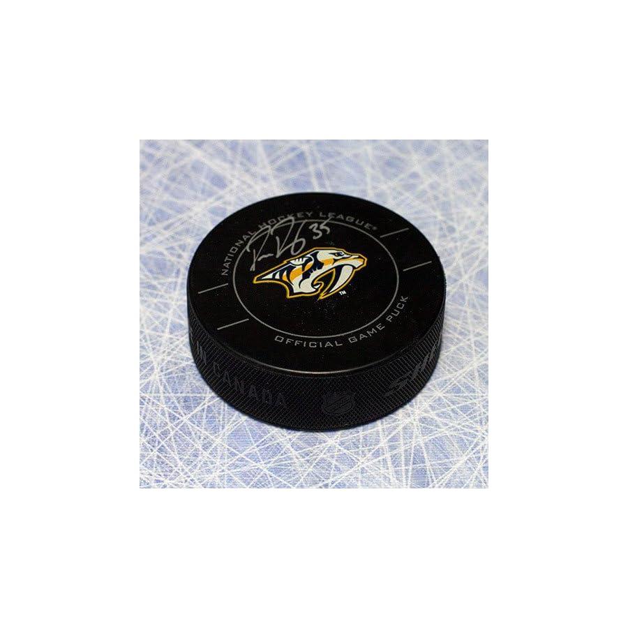 Pekka Rinne Nashville Predators Autographed Official Game Puck Autographed Hockey Pucks
