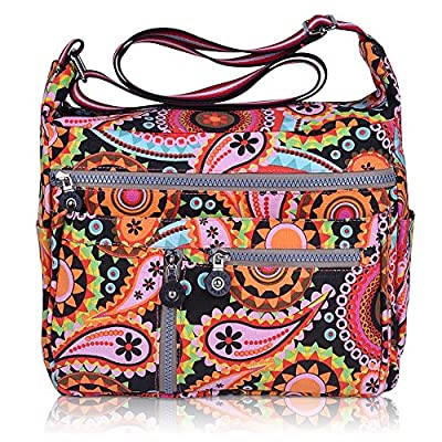 ZYSUN Women's Canvas Tote Handbags Pattern Diaper Bag Casual Messenger Crossbody Bags