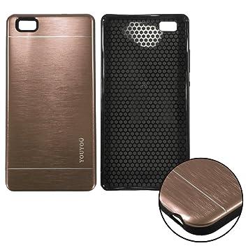 Donkeyphone S17P8LH1H00 - Carcasa Aluminio rígida y Funda Trasera Dura para Huawei p8 Lite Color metálico Dorado