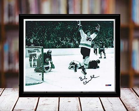 Framed Bobby Clarke The Goal 1975 Stanley Cup Autograph Replica Print Philadelphia Flyers
