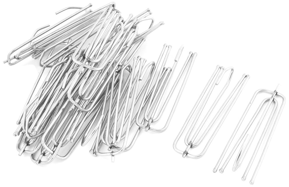 Uxcell a13092600ux0071 Stainless Steel Curtain Pleat Hook, 6.9-Centimeter Long, Silver Tone, 20-Piece Uxcell (UXCE2)