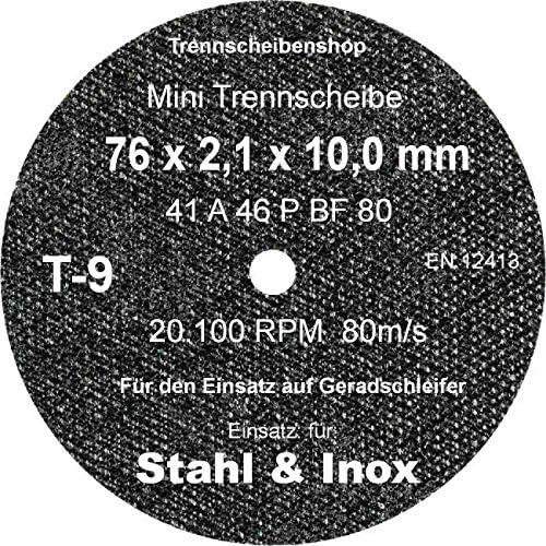 Sonnenflex Golden Star Trennschleifscheiben für Edelstahl, 76 x 2,1 x 10 mm, A 46 P BF F44
