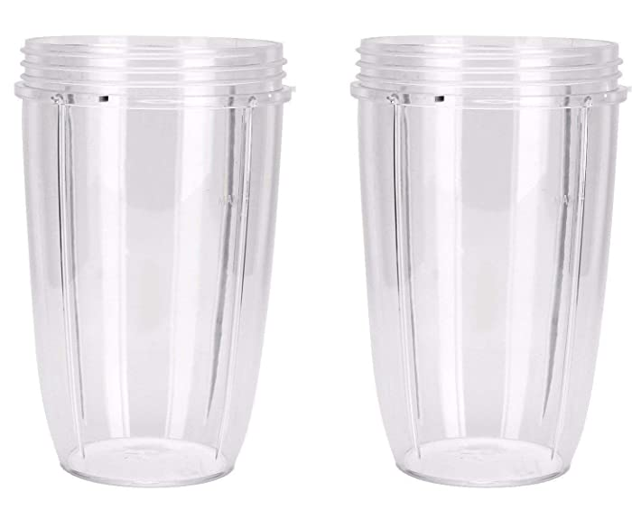 NutriBullet Replacement Cups (Tall - 24-Once) (Pack of 2)   NutriBullet Replacement Parts & Accessories   Fits NutriBullet 600w and Pro 900w Blender