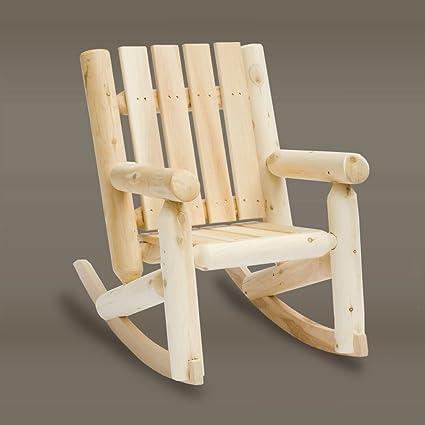 Rustic Cedar Cedar Looks Jr. Log Rocker