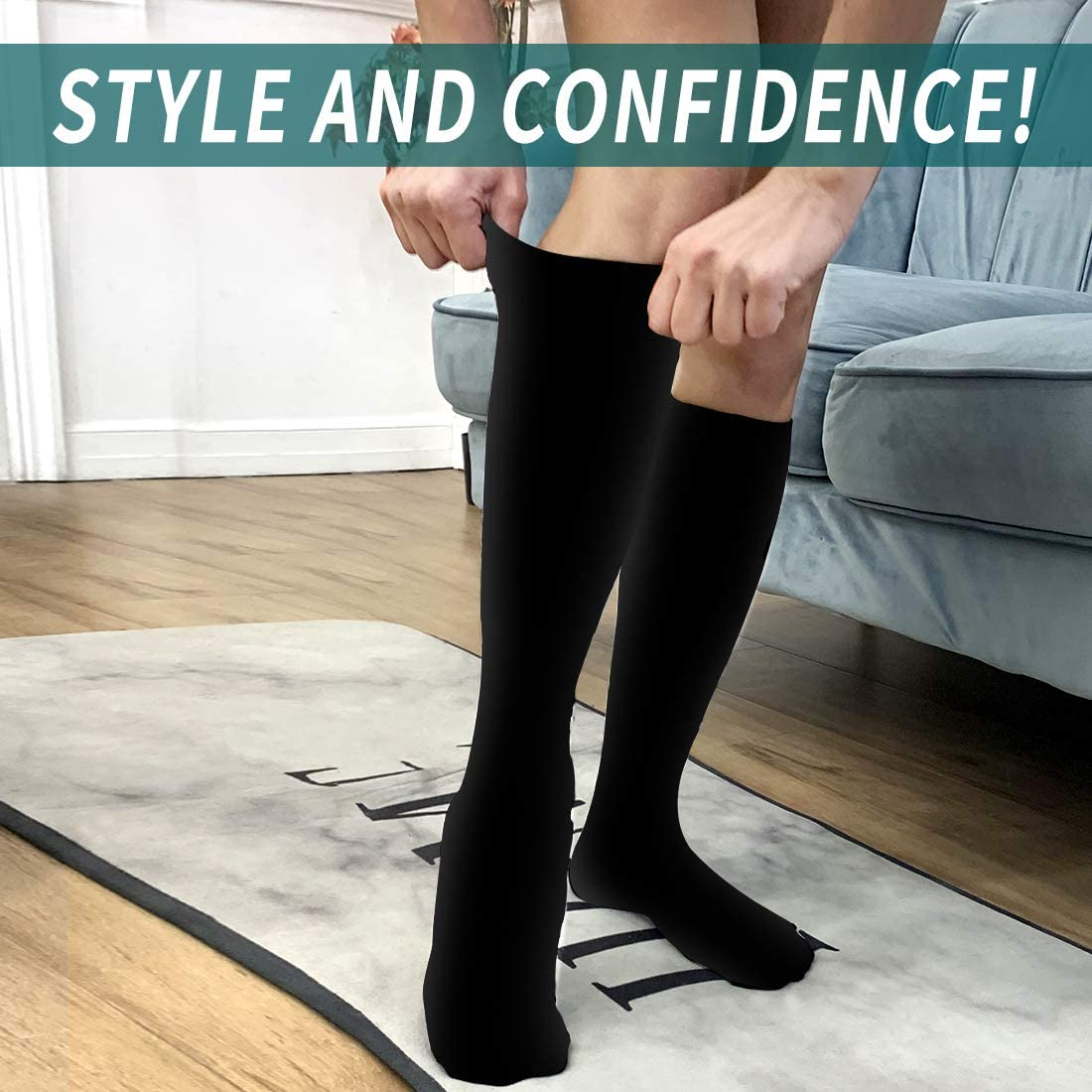 Compression Socks Women and Men-Best for Running,Athletic,Varicose Veins,Nursing,Hiking,Recovery /& Flight Socks