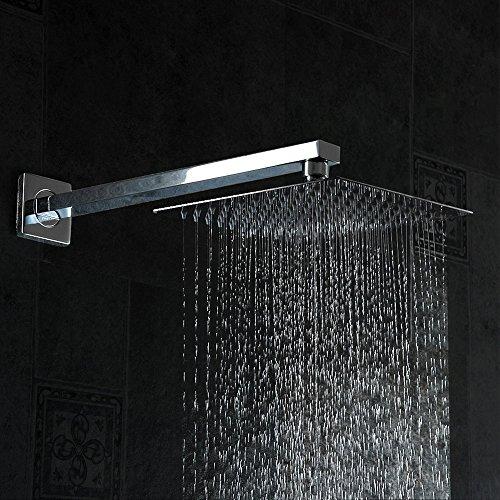 Rain Like Shower Head. 16 Rainfall Shower Head  YAWALL Ultra thin Stainless Steel High Polish Chrome Luxury Durable Rain Showerhead Style Waterfall Effect Enjoy a 12 Brushed Nickel Amazon com