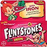 Flintstones Chewable Multivitamins with Iron, 60 Count