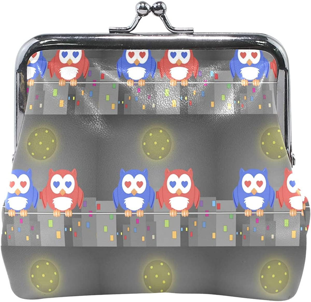 Handbag Clutch Womens Owlet Two Lovers In The Night City Coin Purse Wallet