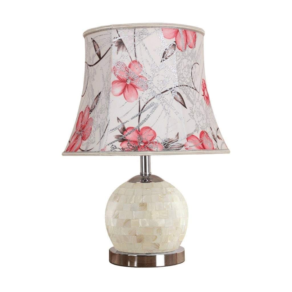 SLEVE European-Style Table Lamp Bedroom Bedside Lamp Warm Romantic Creative Shell Decoration