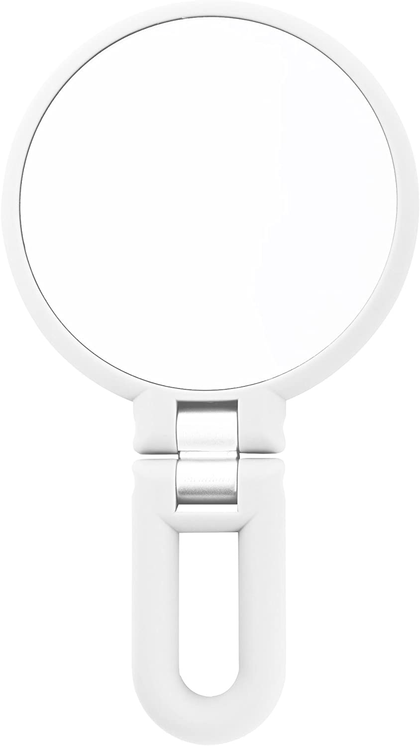 Danielle 15X Magnification Folding Makeup Mirror, Clear Acrylic