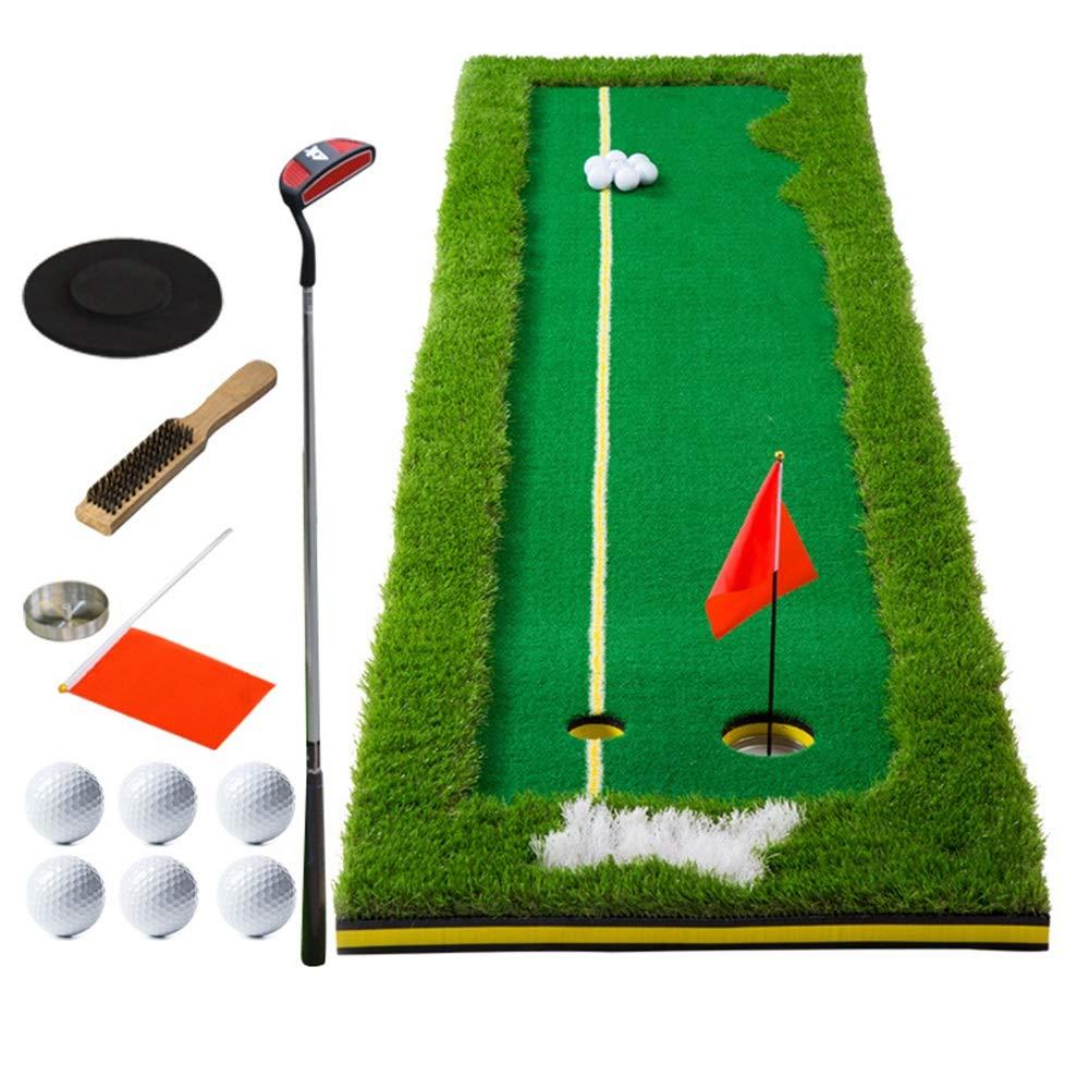 インドアマットゴルフミニアーティフィシア ゴルフ室内グリーン練習ゴルフパッティングエクササイザゴルフパッティンググリーン人工芝草ロール0.5 * 3、0.75 * 3 2サイズ サーフェスフラッグアクセサリー (色 : 4 color, サイズ : 75*300cm) 75*300cm 4 color B07T66YM2Z