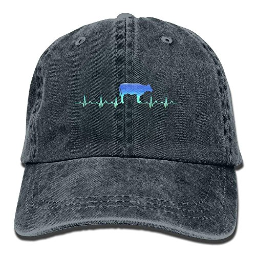 Itry Heartbeat Cow Neon Women's Unisex Cowboy Baseball Caps Style Low Adjustable Baseball Cap Hat -
