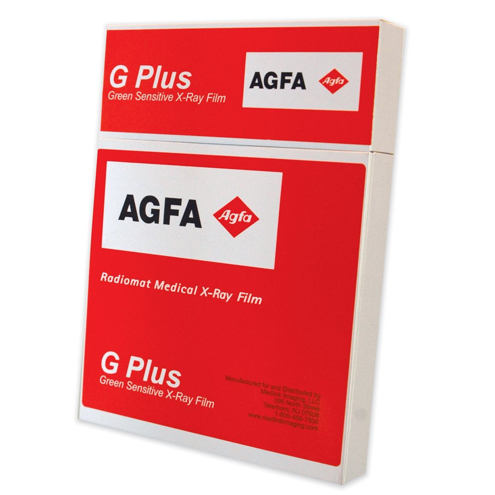 Image of X-Ray Film AGFA RADIOMAT PCG1417 X-Ray Film, Full Speed, 14' x 17', Green Sensitive (Pack of 100)