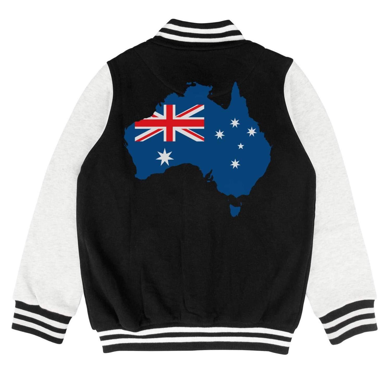 epoyseretrtgty Autumn Kids Boys Winter Australia Pride Casual Slim Baseball Jacket Hoodie