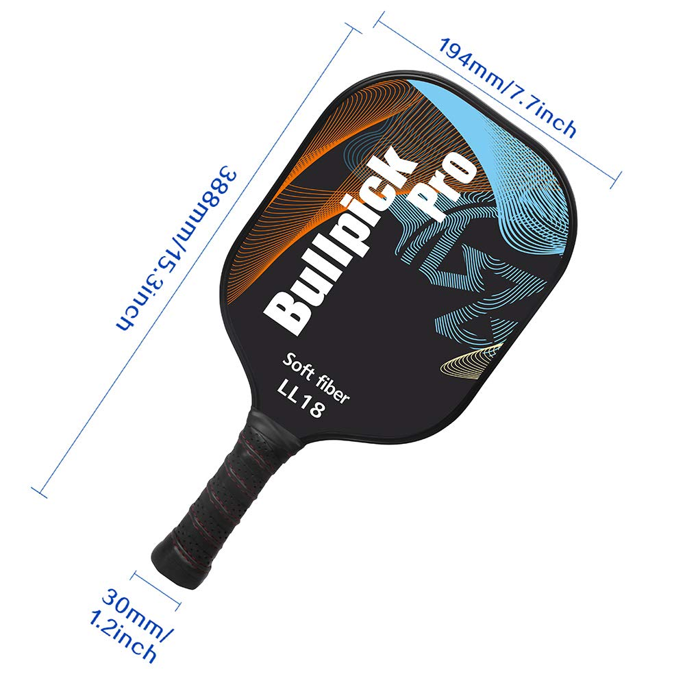 Amazon.com : Bullpickpro Pickleball Paddle Sets-Composite Fiber Face and PP Honeycomb Core Pickleball Racquet, Lightweight(The Average of 7.2oz) Edge Guard ...