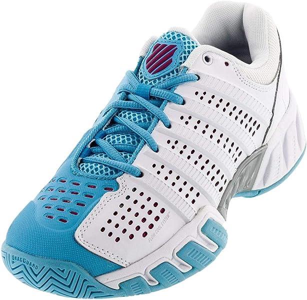 K-Swiss-Juniors` Bigshot Light 2.5 Tennis Shoes White and Bachelor Button-(88875